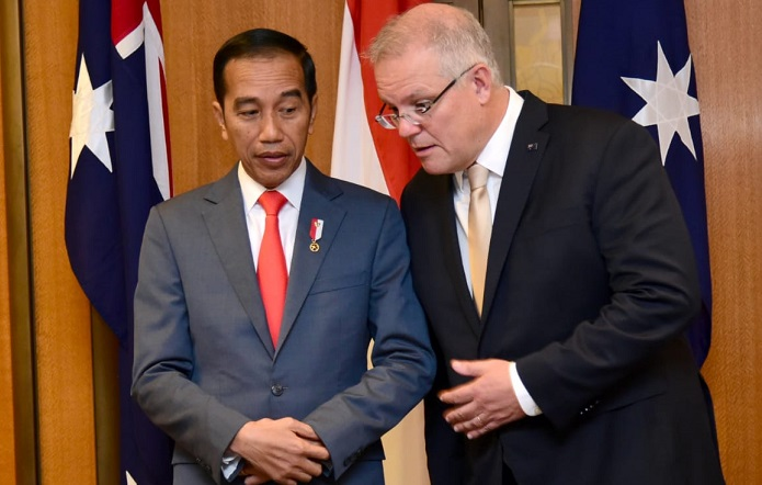"Bertemu PM Australia di Gedung Parlemen, Presiden Jokowi: ""A friend in need is a friend indeed"""